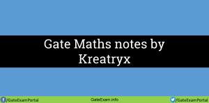 Gate-maths-notes-kreatryx