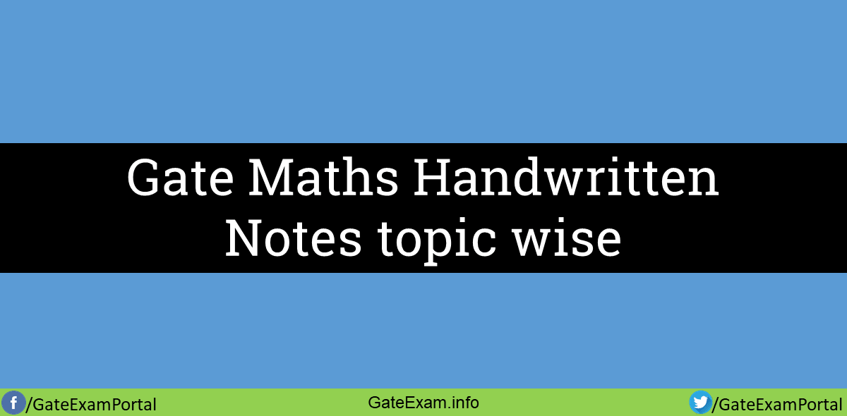 Gate-maths-handwritten-topic-wise